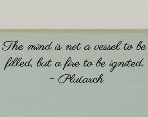 Plutarch quote - Classroom Wall Decal -