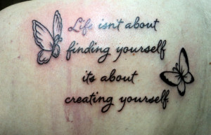 butterfly tattoos with quotes