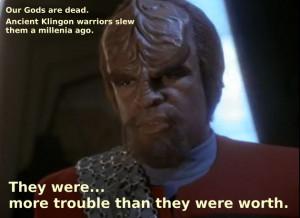 damn. klingon theology
