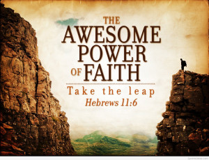 Nice awesome faith power quote with image hd