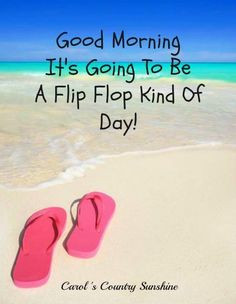 Flip flop kind of day quote via Carol's Country Sunshine on Facebook