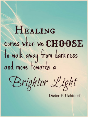 For those that are religious, Christ can heal your heart as well. Good ...