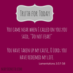 . God's got it. Stop your fearing.Bible Lamentations, Demuth Quotes ...