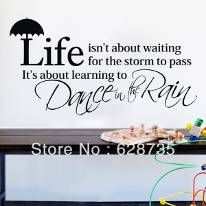 ebay-hot-inspiring-sayings-life-is-about-waiting-for-the-storm-to-pass ...