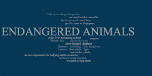 Endangered Animals In The World