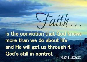 God still in control