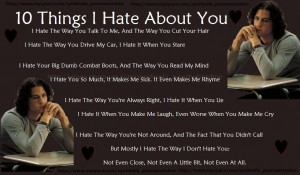 10 things i hate about you sayings poems poetry pic i hate you poems