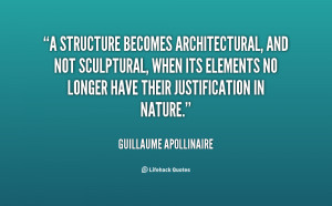 structure becomes architectural, and not sculptural, when its ...