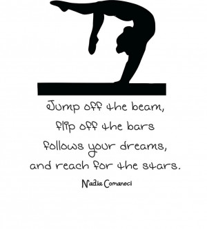 ... Quote | Vinyl Wall Decal | Gymnastics Sticker 22