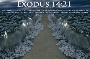 Bible Verses God's Power Exodus 14:21 Sea Parting Picture Wallpaper