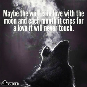 Wolf howling at the moon quote.