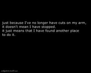 cutting myself quotes