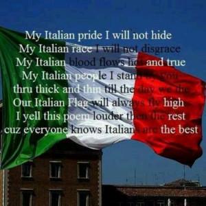 Proud to be Italian.