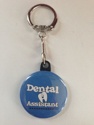 Dental Assistant Keychain Handmade Keychain by MyButtonMonster, $3.00