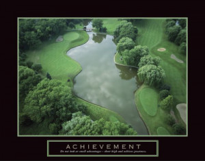 Golf Course Motivational Poster Inspirational Art Print Collections ...
