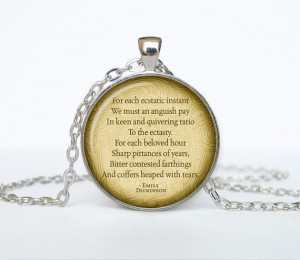 Emily Dickinson poems necklace quotes pendant Victorian England ...
