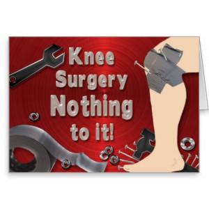 Get Well Card Knee Surgery