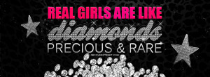 Real Girls Are Like Diamonds Wallpaper