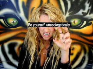 My goal for the week: to be myself, unapologetically.