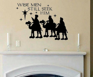 Wall Decal Quote Three wise men