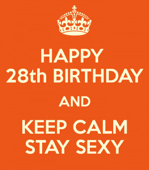 A028 Happy 28th Birthday 028 - Alegoo.com