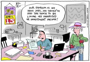 Income Tax Funny Cartoons