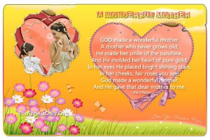 Quotes For Mothers Day For Aunts Mothers Day Poem Or Quote I Need One ...