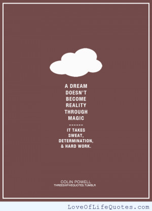 Colin Powell quote on dreams