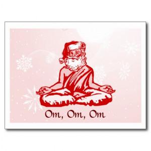 Buddhist Santa Christmas Card Post Card