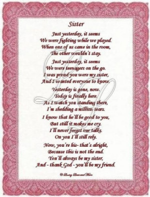 ... Friends, Friend Poems, Friends Poems, Sister Wedding Day Quotes