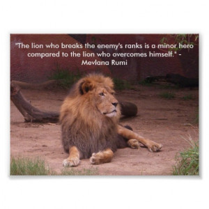 Lion - Quote Posters