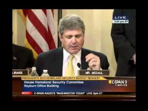 Texas Congressman Michael McCaul grills Janet Napolitano, 15 February ...