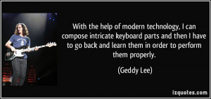 With the help of modern technology, I can compose intricate keyboard ...