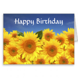 Happy Birthday Yellow Sunflower Greeting Card
