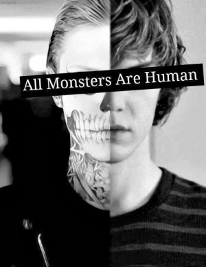 american horror story, human, inside, man, monster, quote, evil bad