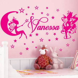 FAIRY Stars Name Personal Vinyl Wall Decals Saying Quote Art Stickers ...