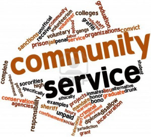 ... 15 hours of community service every year however finding a service