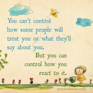 Control reactions!