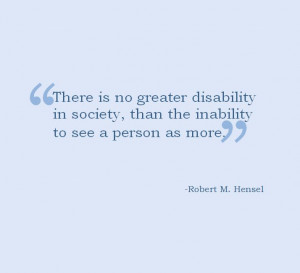 Disability quote.