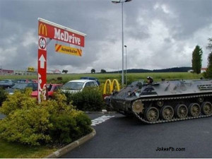 Funny Tank Come At Mc For Burger