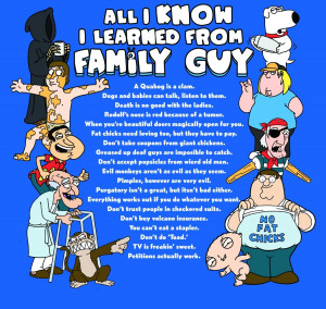 Family Guy All I know I learned from Family Guy
