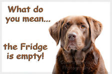 Personalised Golden Lab Labrador Dog Fridge Magnet new Birthday gift ...