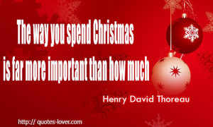 The Way You Spend Christmas