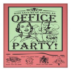 Funny Office Party Invitation from Zazzle.com