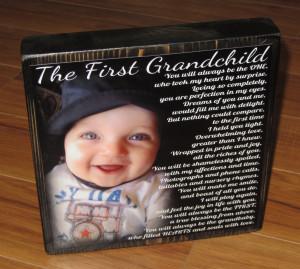Love My Grandchildren Quotes First grandchild poem block xl