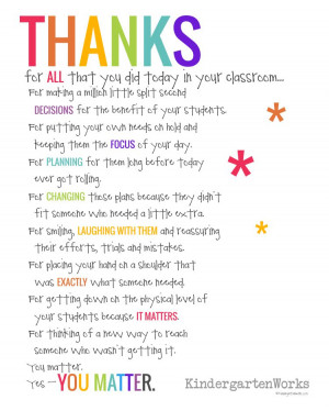 Teacher Appreciation Poem Prints Free Download