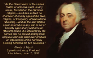 John Adams and the Treaty of Tripoli