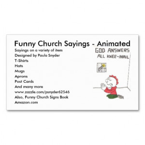 knee-mail, Funny Church Sayings - Animated, Say... Business Card ...