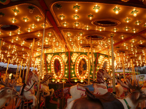 ... Christmas Markets in Europe - Carousel in Grand Place in Brussels