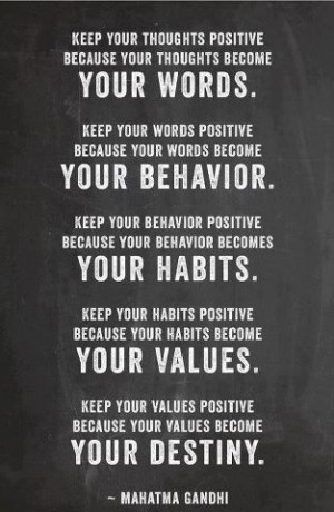 Mahatma Gandhi Motivational Quotes: Keep your thoughts positive